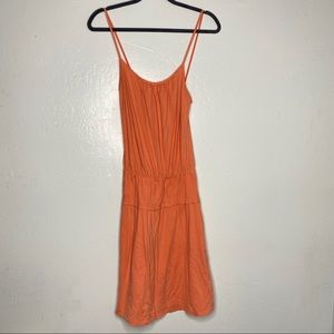 James Perse Orange Spaghetti Strap Standard Dress